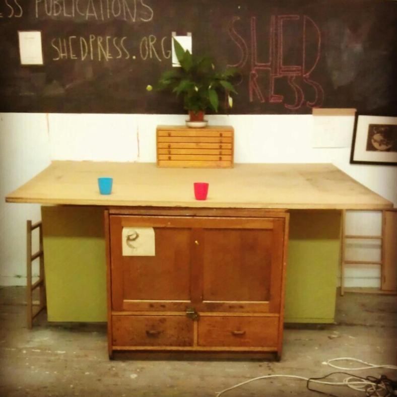 Shed desk