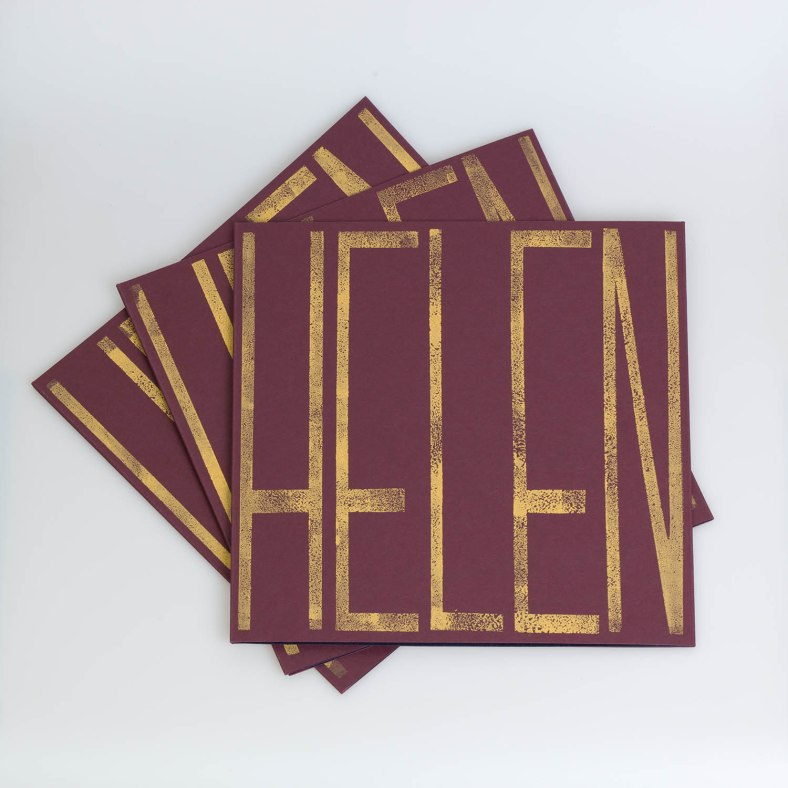 Helen maroon lino